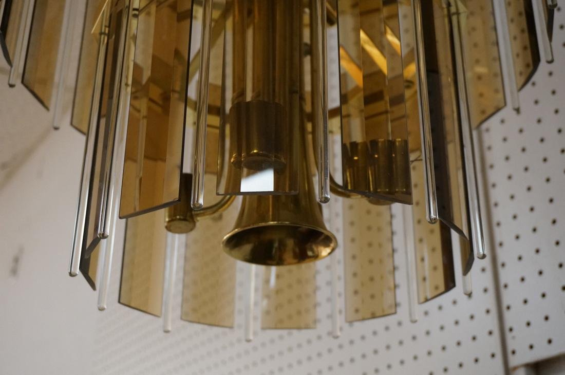 Modernist Glass Hanging Light Chandelier. Two lev - 3
