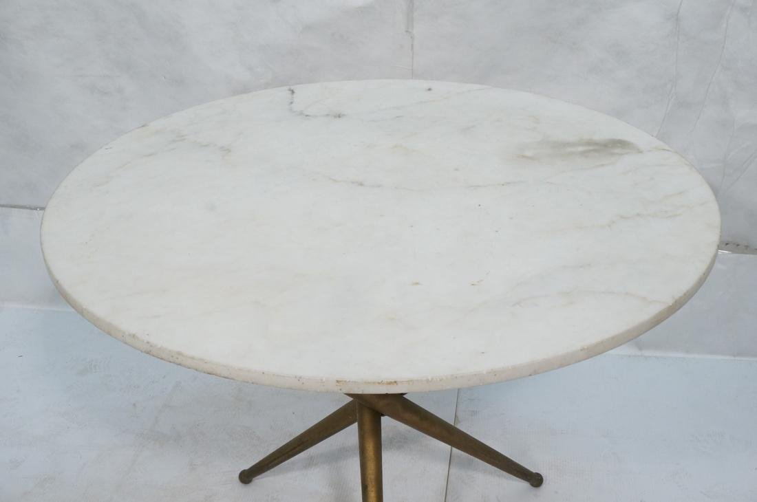 Italian Ponti Style Round Marble Top Dining Table - 2
