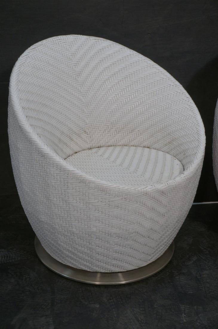 Pr White FRONTGATE Swivel Lounge Chairs. SALIMA m - 2