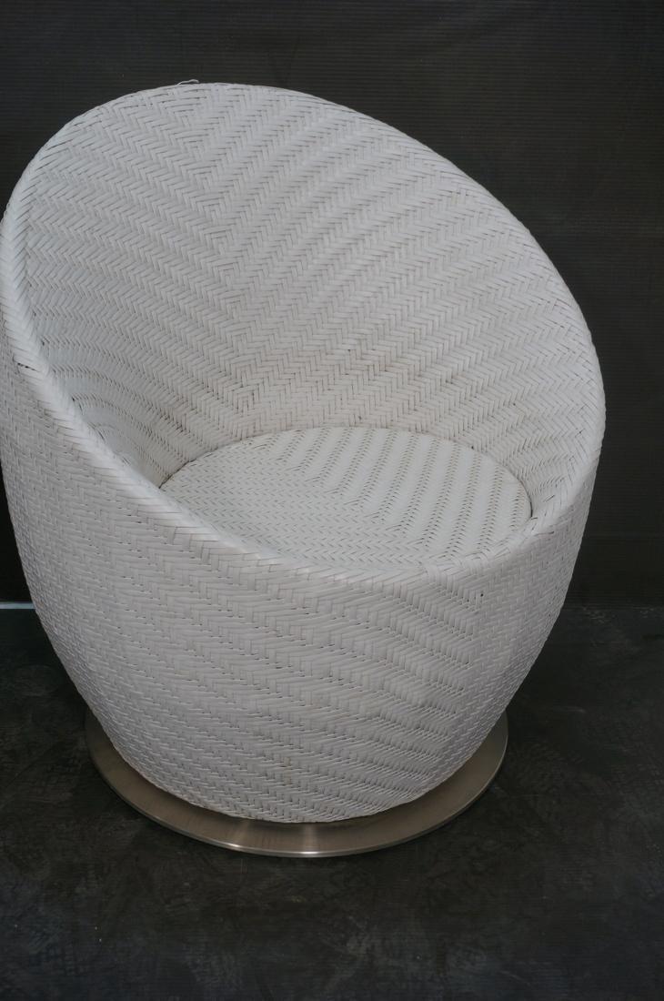 Pr White FRONTGATE Swivel Lounge Chairs. SALIMA m - 3