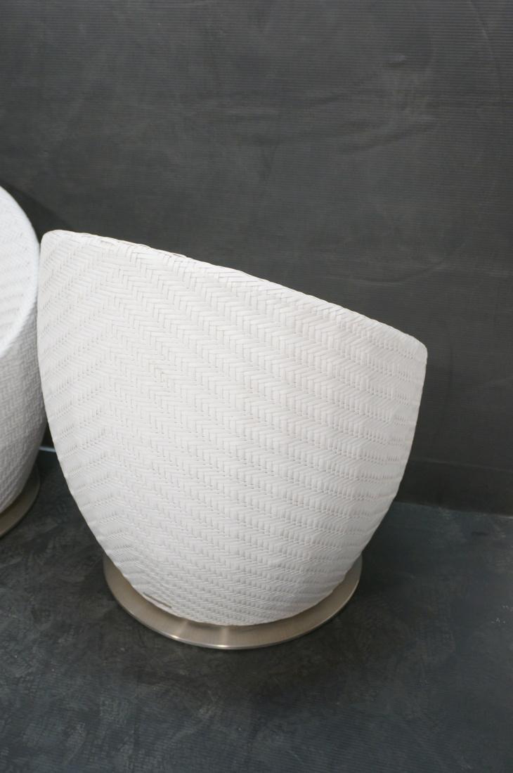 Pr White FRONTGATE Swivel Lounge Chairs. SALIMA m - 9