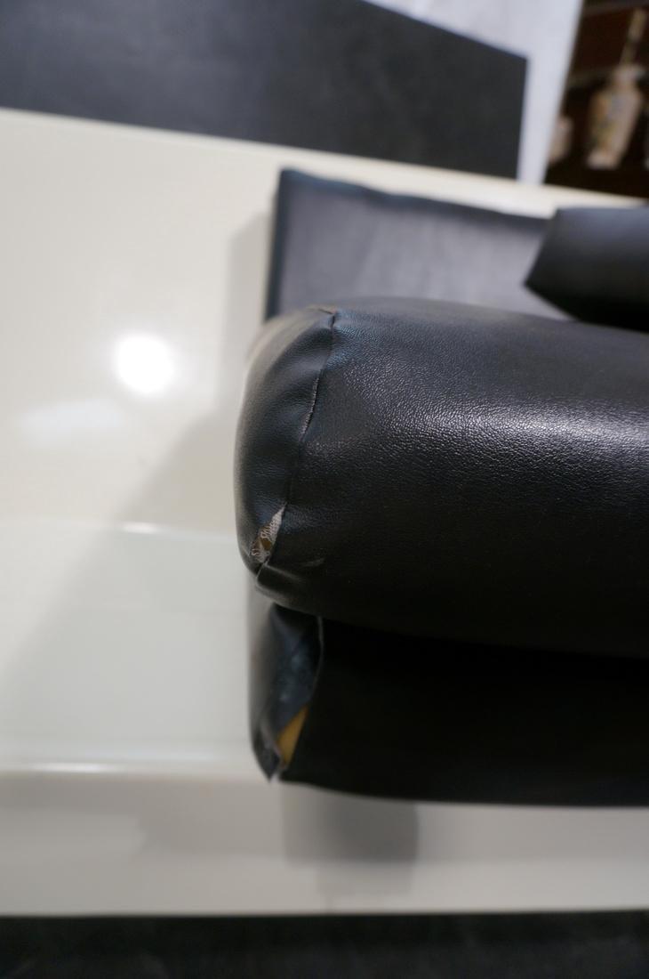 80's Modernist Fiberglass Couch. White Molded Fib - 5