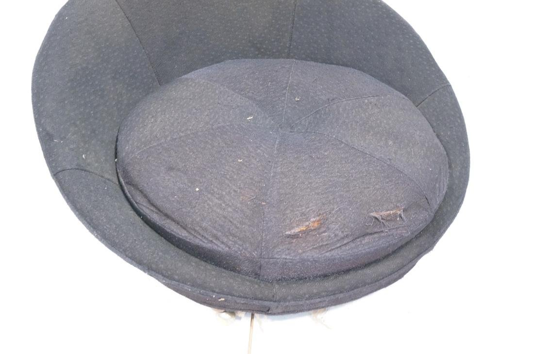 ADRIAN PEARSALL style Black Round Lounge Chair. P - 2