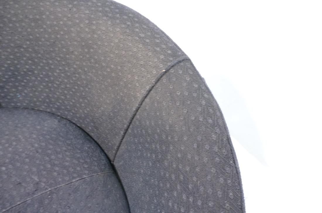 ADRIAN PEARSALL style Black Round Lounge Chair. P - 8