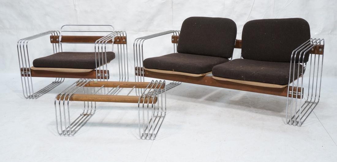 3pc ROBERT HAUSMANN  Seating Set. Love Seat, Loun