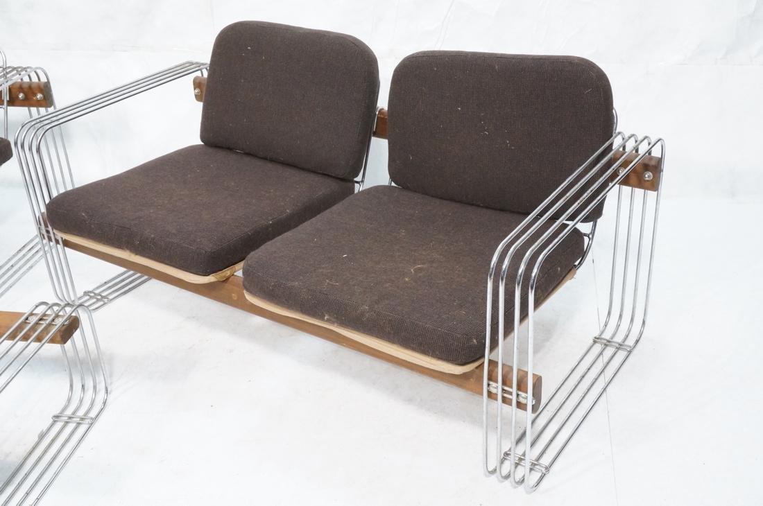 3pc ROBERT HAUSMANN  Seating Set. Love Seat, Loun - 2