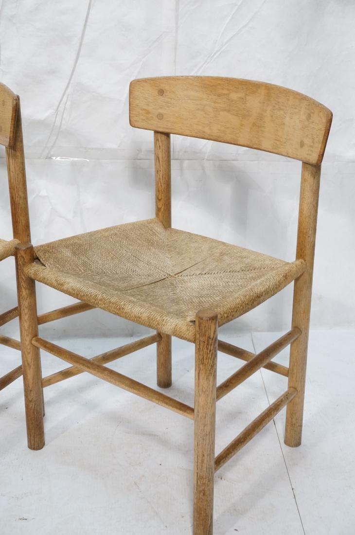 4pc BORGE MOGENSEN Oak Modern Dining Chairs. Curv - 2