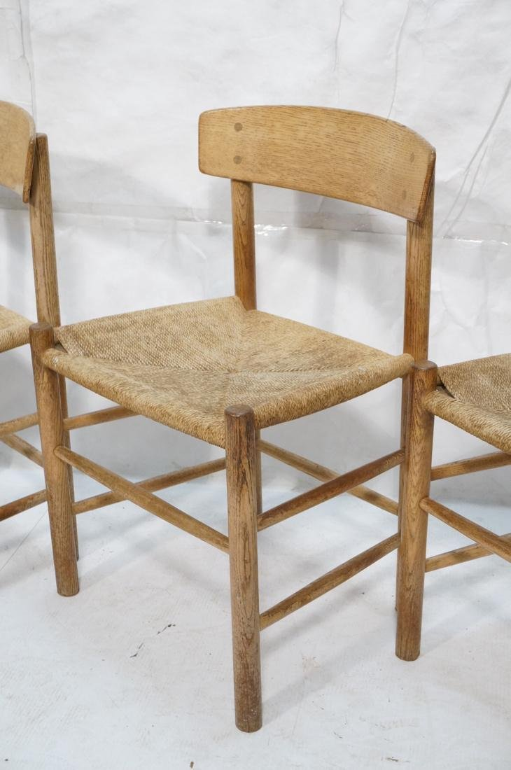 4pc BORGE MOGENSEN Oak Modern Dining Chairs. Curv - 3