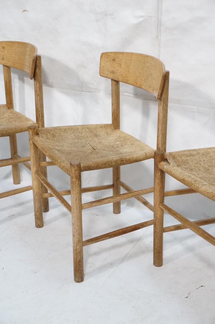 4pc BORGE MOGENSEN Oak Modern Dining Chairs. Curv - 4