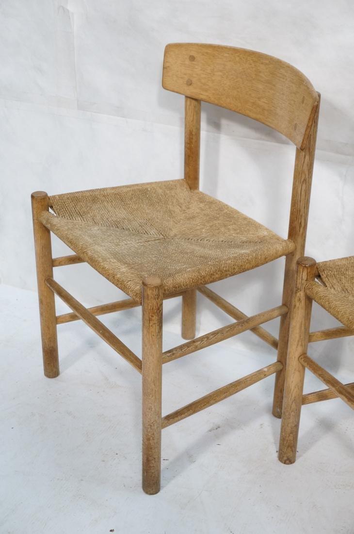 4pc BORGE MOGENSEN Oak Modern Dining Chairs. Curv - 5
