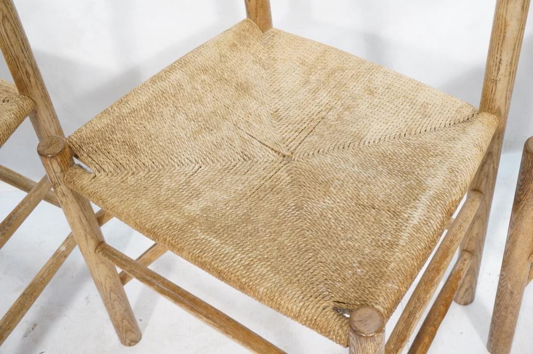 4pc BORGE MOGENSEN Oak Modern Dining Chairs. Curv - 6