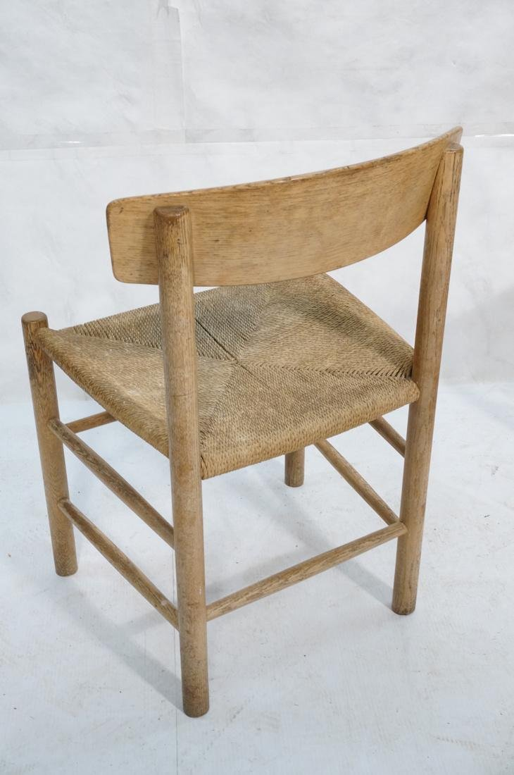 4pc BORGE MOGENSEN Oak Modern Dining Chairs. Curv - 7