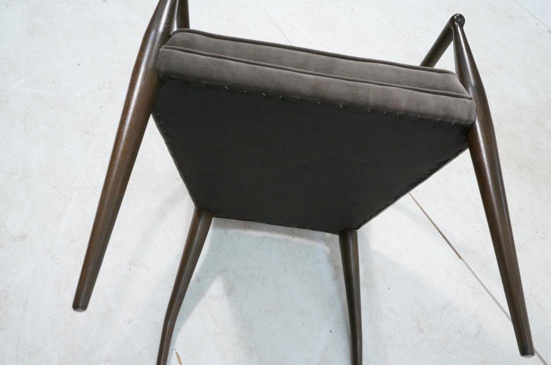 Italian Tall Back Lounge Chair. Elegant dark wood - 10