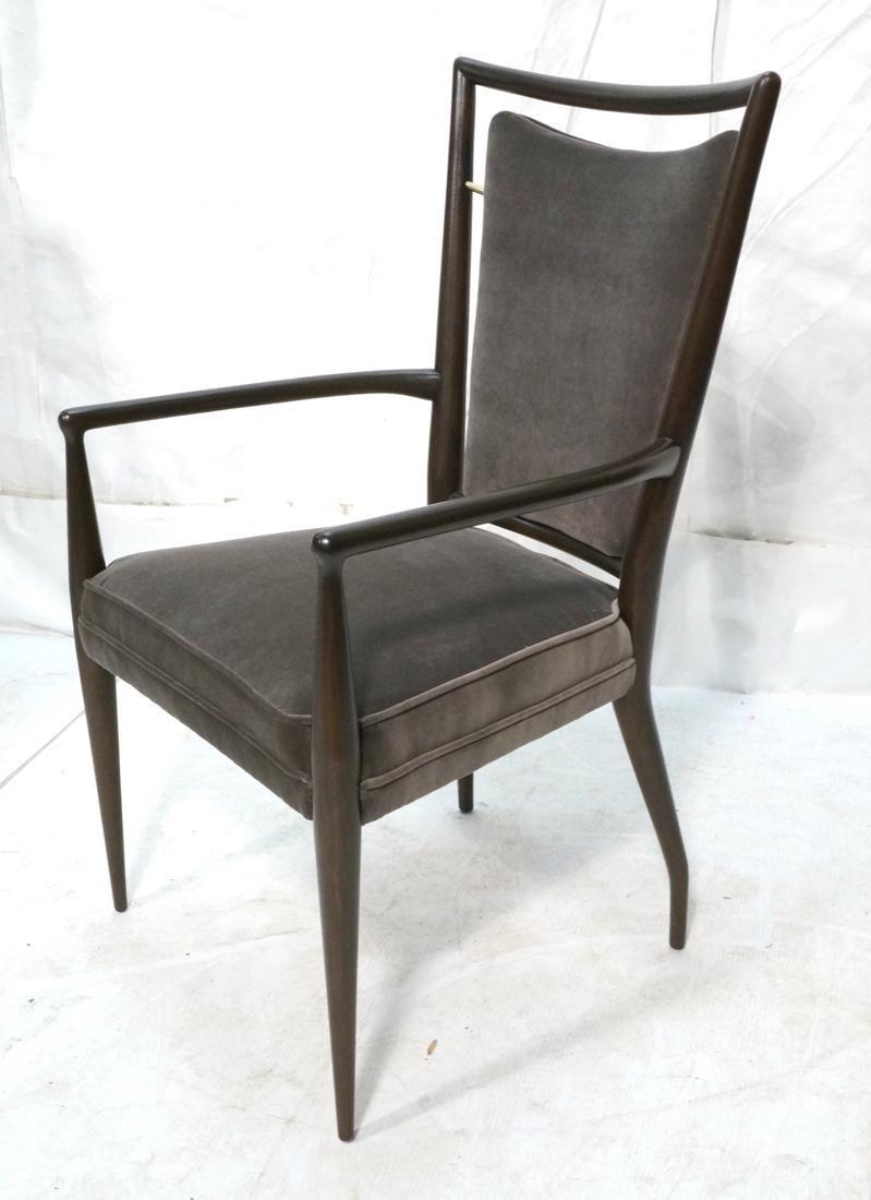 Italian Tall Back Lounge Chair. Elegant dark wood