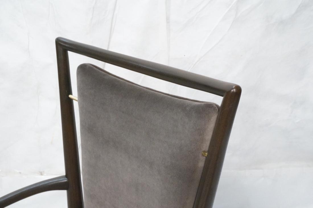 Italian Tall Back Lounge Chair. Elegant dark wood - 2