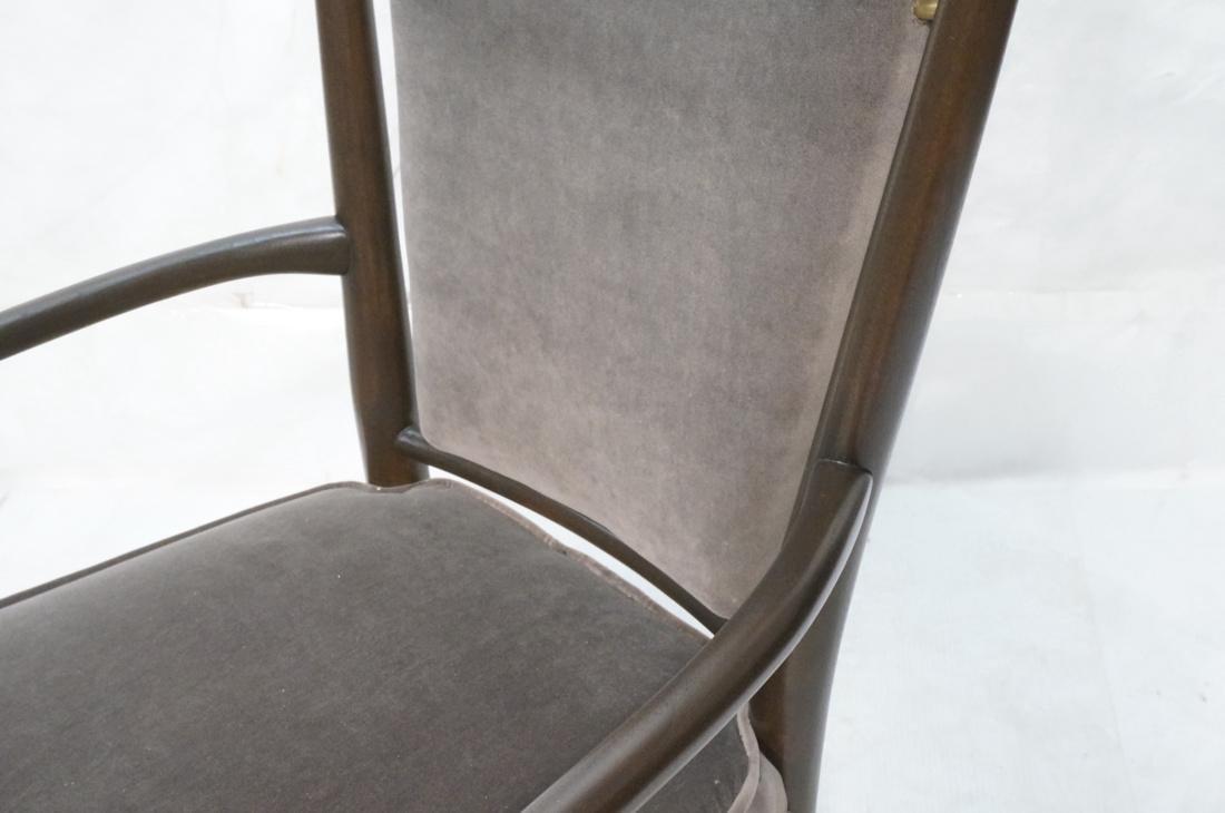 Italian Tall Back Lounge Chair. Elegant dark wood - 3