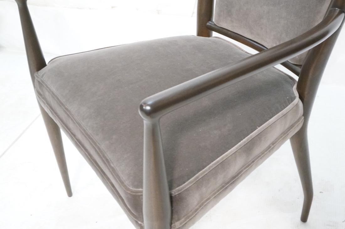 Italian Tall Back Lounge Chair. Elegant dark wood - 4