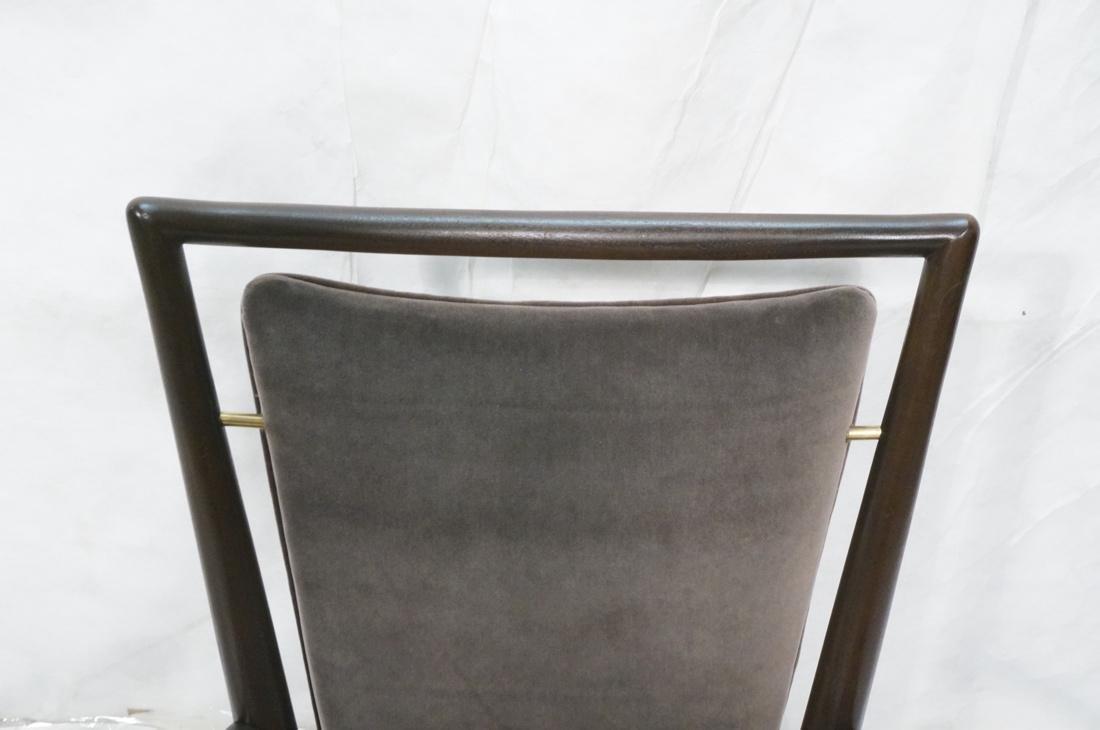 Italian Tall Back Lounge Chair. Elegant dark wood - 6