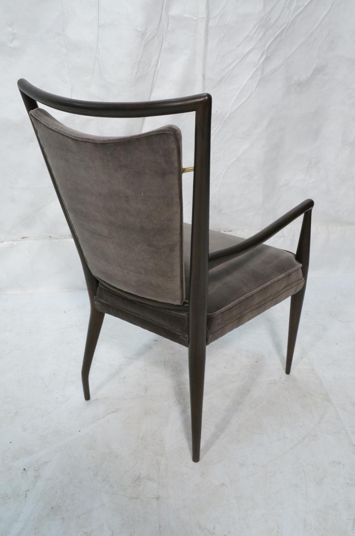 Italian Tall Back Lounge Chair. Elegant dark wood - 7