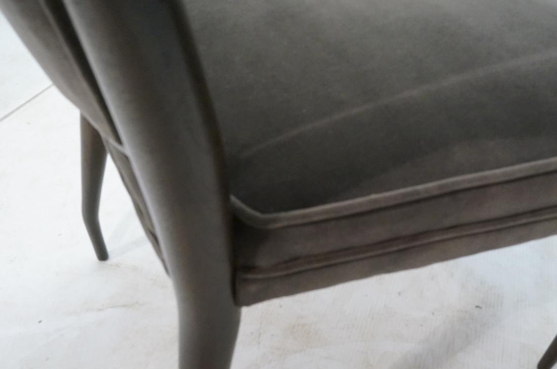Italian Tall Back Lounge Chair. Elegant dark wood - 8