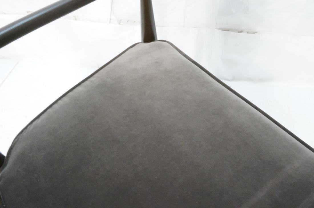 Italian Tall Back Lounge Chair. Elegant dark wood - 9