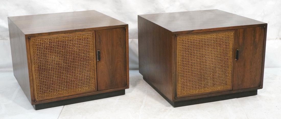 Pr Rosewood Cube Form End Side Tables. Both sides