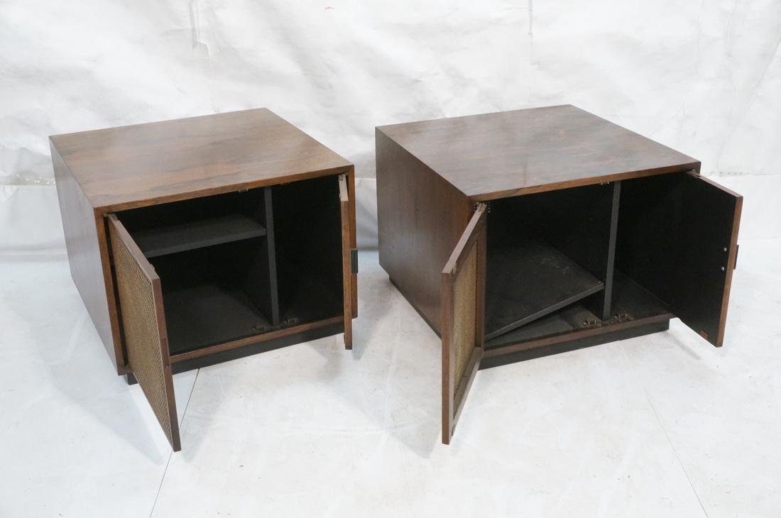 Pr Rosewood Cube Form End Side Tables. Both sides - 2
