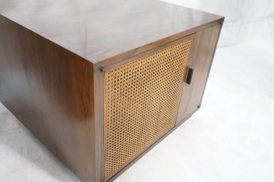 Pr Rosewood Cube Form End Side Tables. Both sides - 4