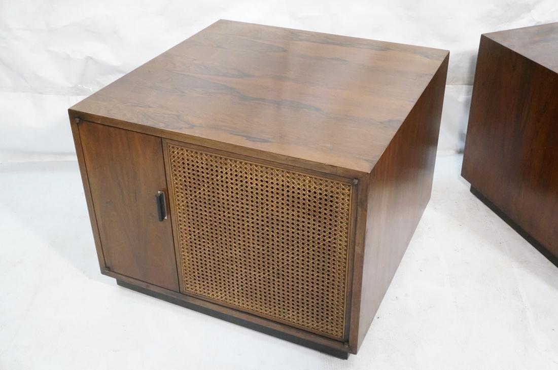 Pr Rosewood Cube Form End Side Tables. Both sides - 6