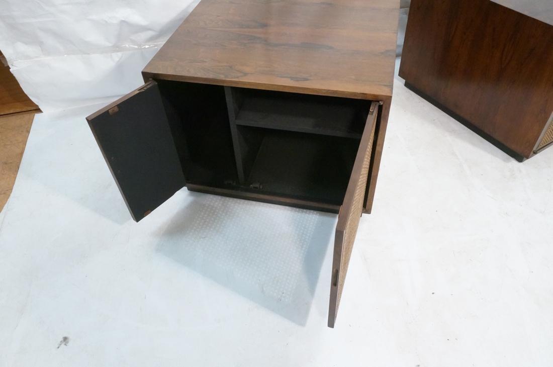 Pr Rosewood Cube Form End Side Tables. Both sides - 7