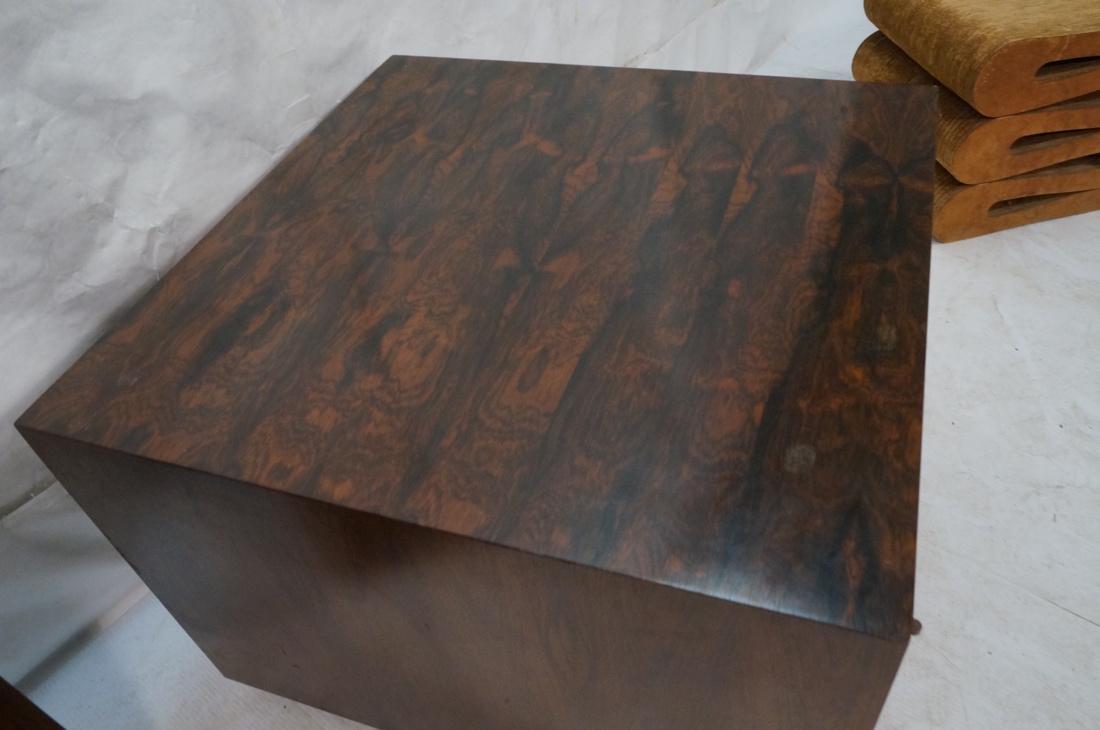 Pr Rosewood Cube Form End Side Tables. Both sides - 8