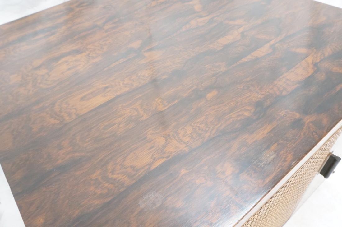 Pr Rosewood Cube Form End Side Tables. Both sides - 9
