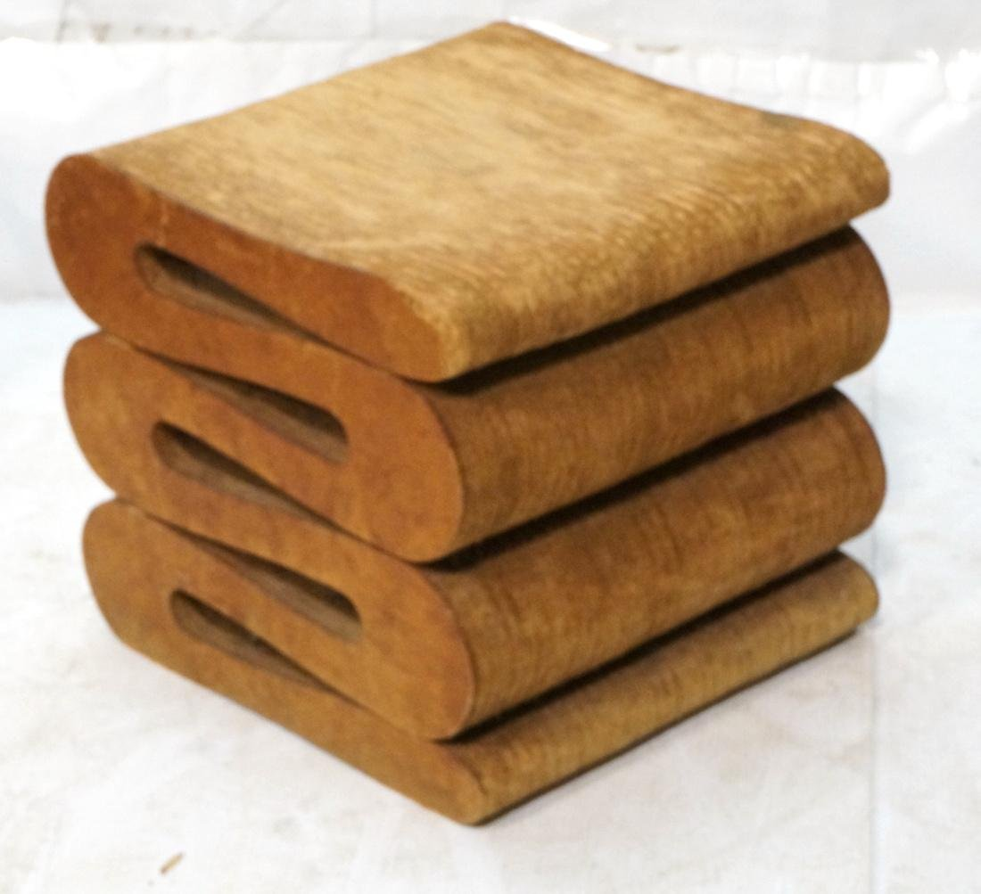 FRANK GEHRY Laminated Cardboard Stool Bench Seat.