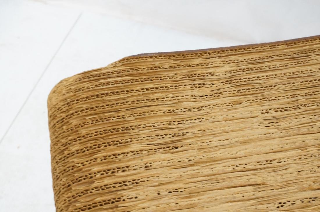 FRANK GEHRY Laminated Cardboard Stool Bench Seat. - 8