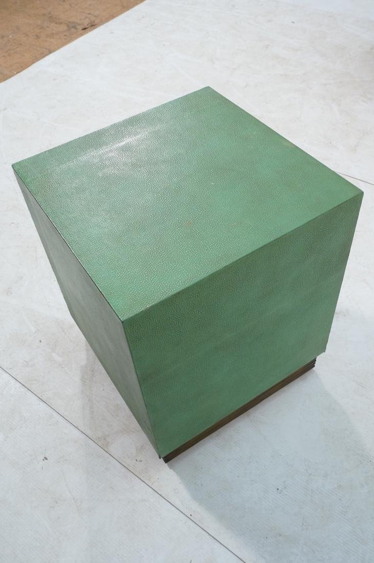 SHAGREEN Style 3 Drawer Green Night Stand. Textur - 8