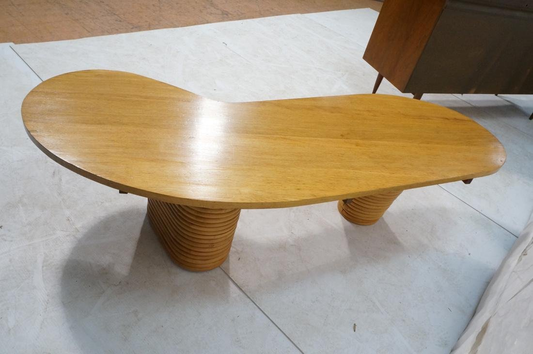 PAUL FRANKL Bamboo Banded Base Cocktail Table. Am - 6