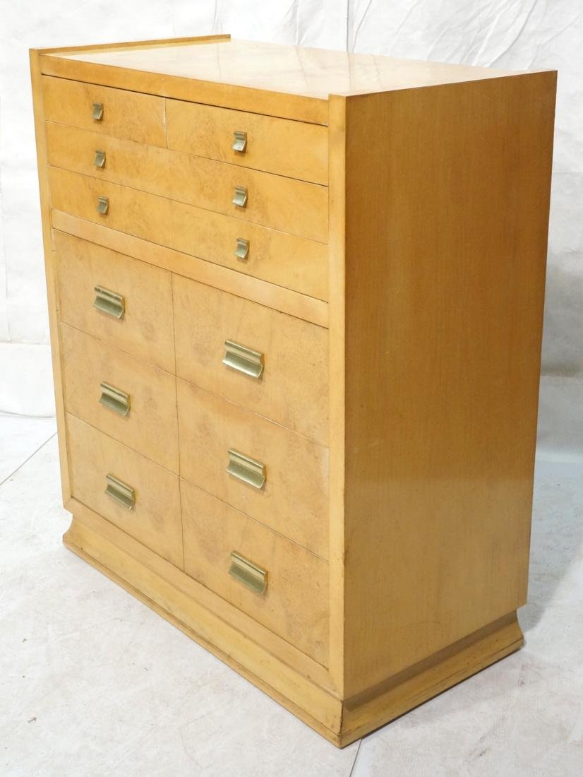 Modernist Maple Tall Chest Dresser. Stylish conte
