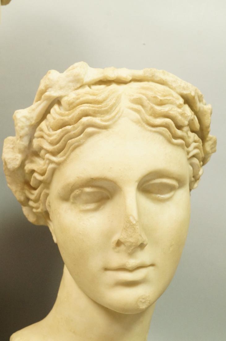 3 Pc Roman Antiquity Reproduction Sculpture. 2 bu - 3