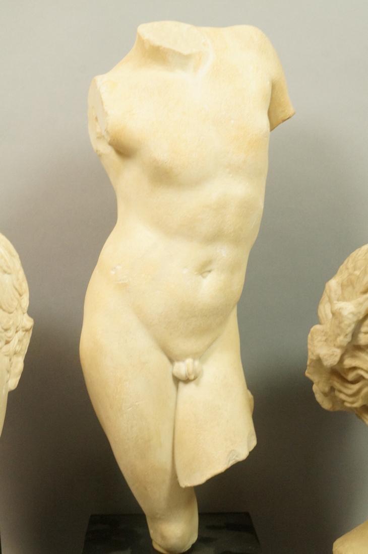 3 Pc Roman Antiquity Reproduction Sculpture. 2 bu - 4