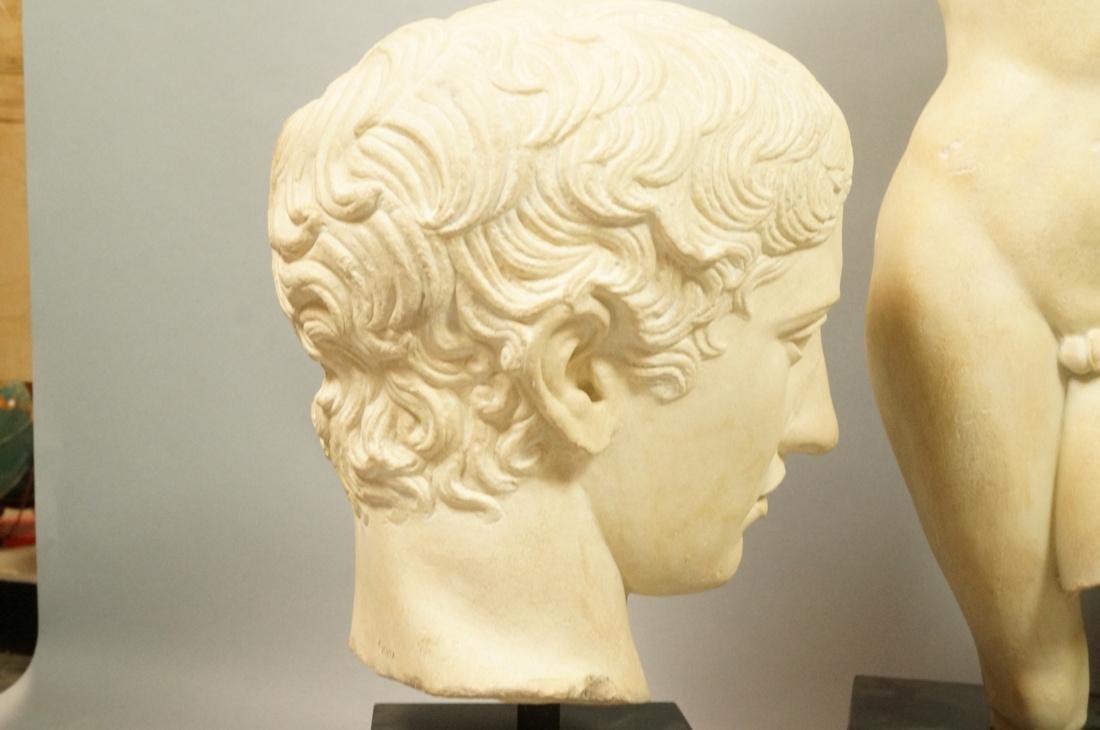 3 Pc Roman Antiquity Reproduction Sculpture. 2 bu - 8