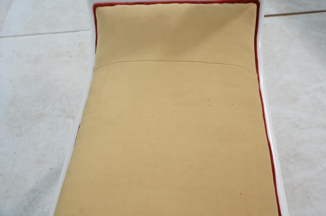 Bright White Paint Finish Decorator Bench.  Gold - 10