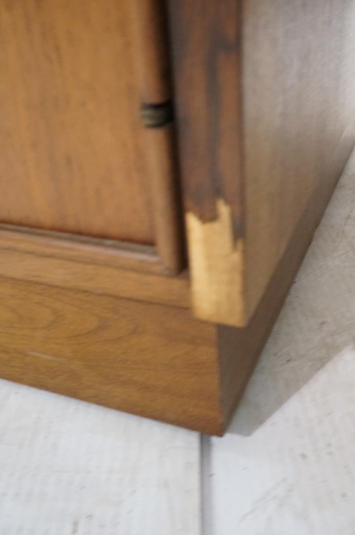 American Modern Walnut 4 Drawer Credenza Sideboar - 4
