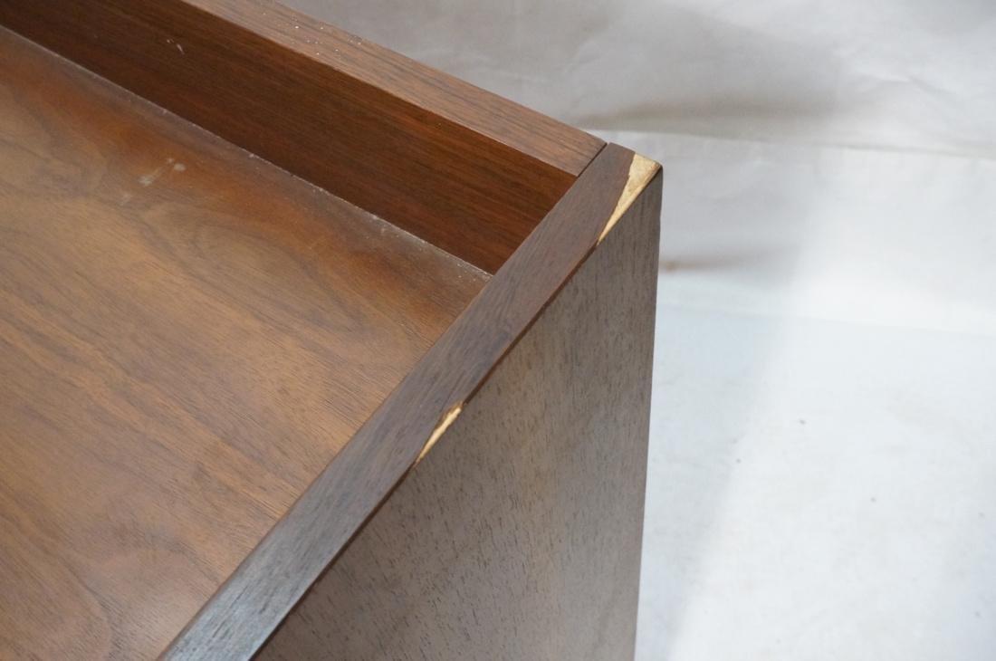 American Modern Walnut 4 Drawer Credenza Sideboar - 5