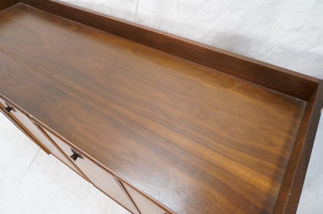 American Modern Walnut 4 Drawer Credenza Sideboar - 6