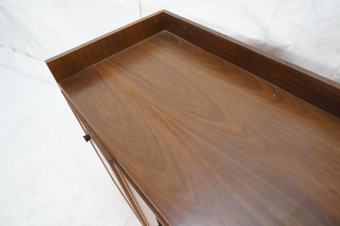 American Modern Walnut 4 Drawer Credenza Sideboar - 7