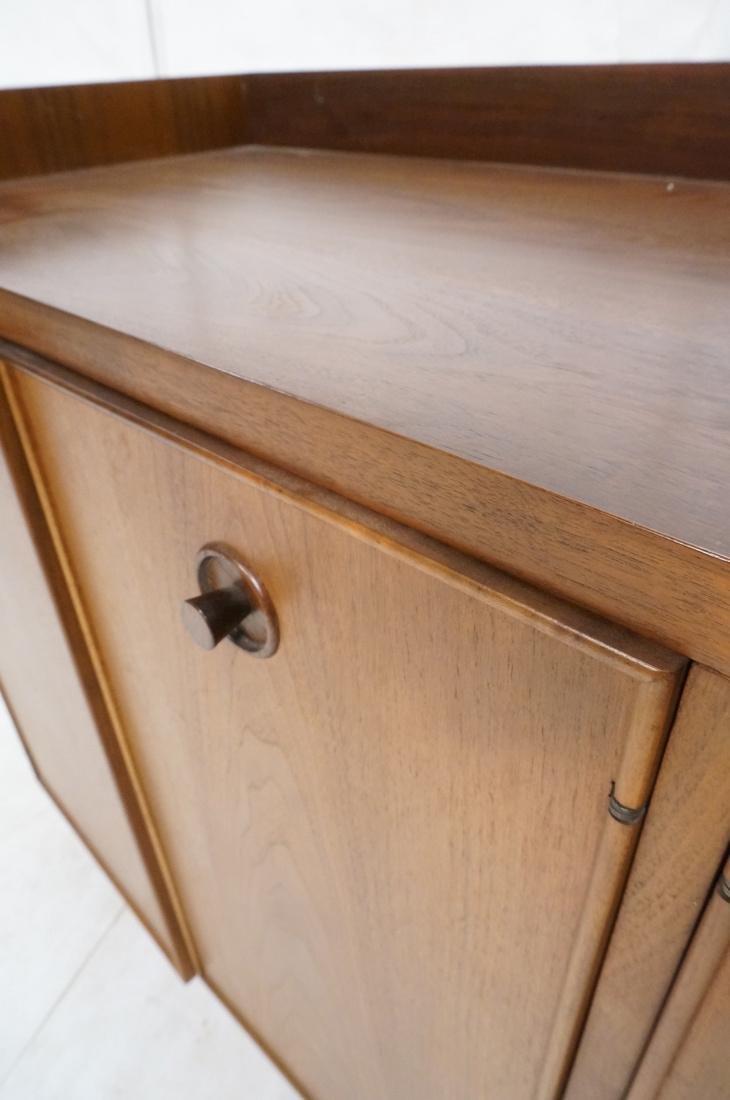 American Modern Walnut 4 Drawer Credenza Sideboar - 8