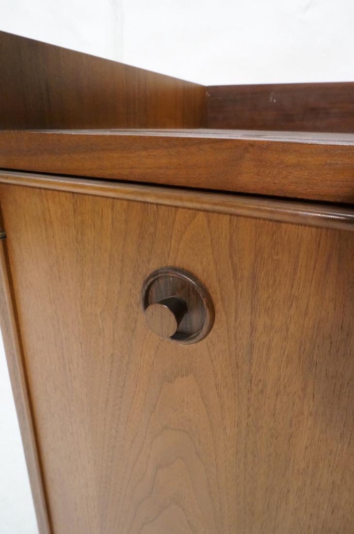 American Modern Walnut 4 Drawer Credenza Sideboar - 9