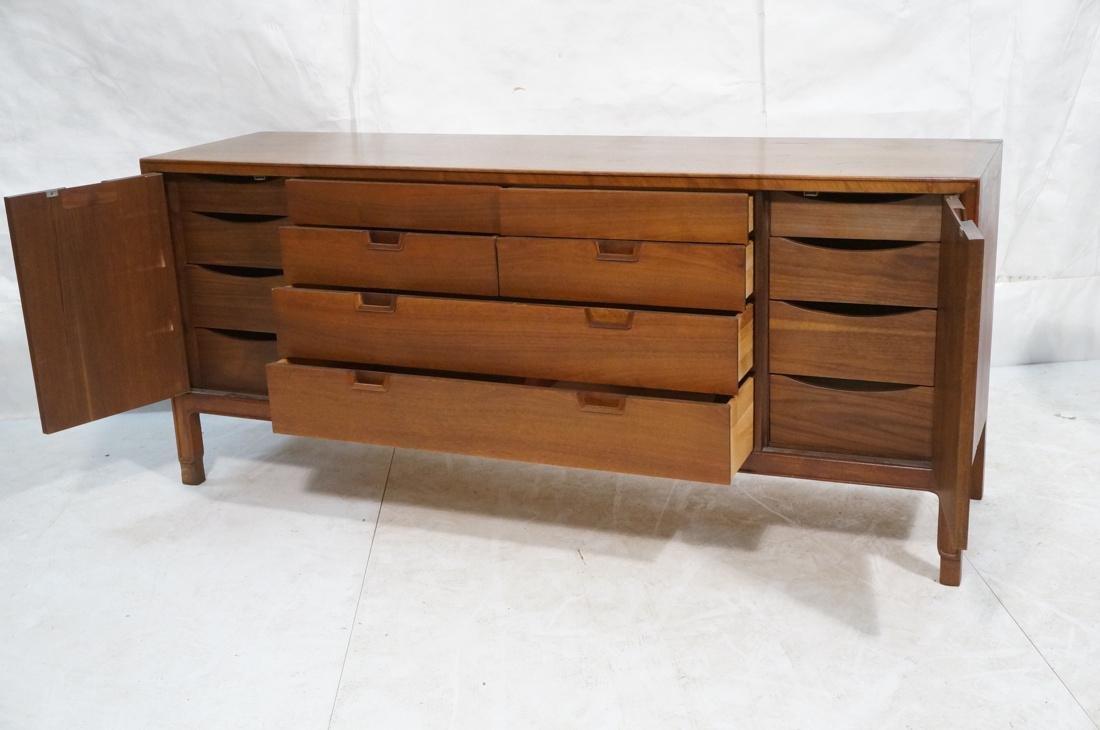 JOHN STUART Modern Walnut Credenza. JANUS Collect - 2