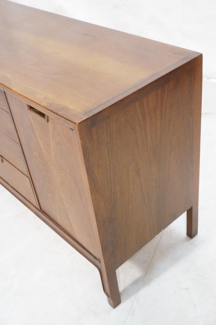 JOHN STUART Modern Walnut Credenza. JANUS Collect - 4