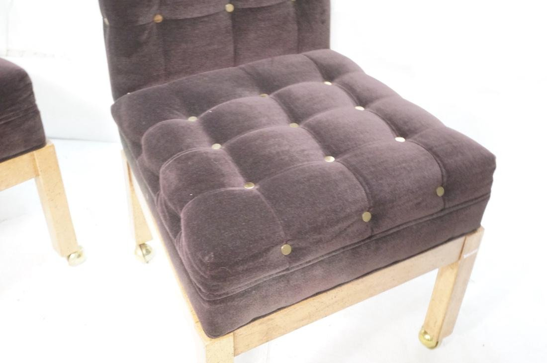 Set 4 Probber Style Dining Chairs. Brown velvet - 3